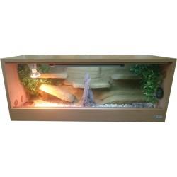 Terrarium z tłem strukturalnym 100x40x40 Agama