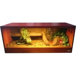Terrarium z tłem strukturalnym 100x40x40 dla węża
