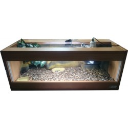 Terrarium 80x35x30 z wyposażeniem dla żółwia lądowego, stepowego
