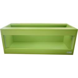 Terrarium Stepek dla żółwia lądowego 80x35x30 kolor zielony