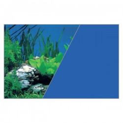 Tło do akwarium wys. 50 cm rośliny nieb./błękitne