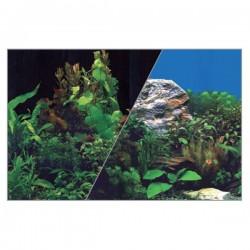 Tło do akwarium wys. 30 cm rośliny czar./rośliny nieb.
