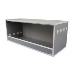 Terrarium 100x40x40 Szary Platynowy - Biały