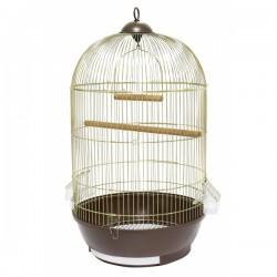 Klatka dla ptaków, papugi, złoto/brązowa