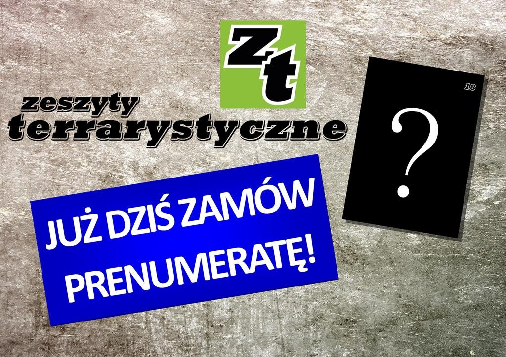 Zeszyty Terrarystyczne - prenumerata
